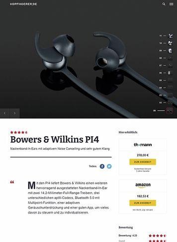 Kopfhoerer.de Bowers & Wilkins PI 4 BK