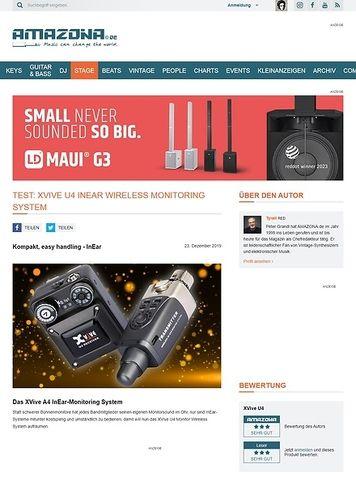 Amazona.de XVive U4 InEar Wireless Monitoring System