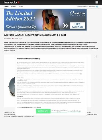 Bonedo.de Gretsch G5232T Electromatic Double Jet FT