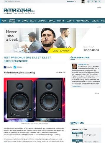 Amazona.de Presonus Eris E4.5 BT & E3.5 BT