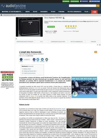 Audiofanzine.com Boss Katana-100 MkII