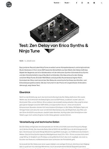 DJLAB Zen Delay von Erica Synths & Ninja Tune