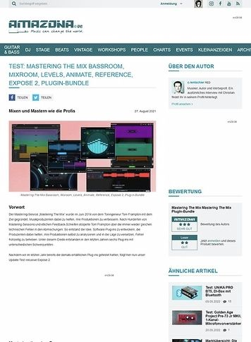 Amazona.de Mastering The Mix Levels, Animate, Reference & Expose