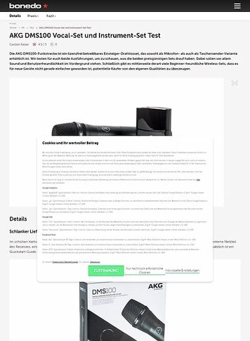 Bonedo.de AKG DMS100 Vocal-Set und Instrument-Set