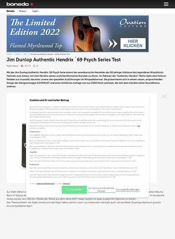 Bonedo.de Jim Dunlop Authentic Hendrix ´69 Psych Series