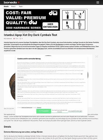 Bonedo.de Istanbul Agop Xist Dry Dark Cymbals