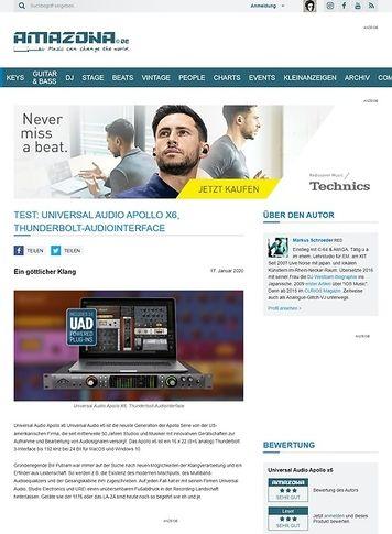 Amazona.de Universal Audio Apollo x6