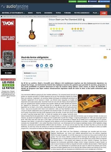 Audiofanzine.com Gibson Slash Les Paul Standard 2020