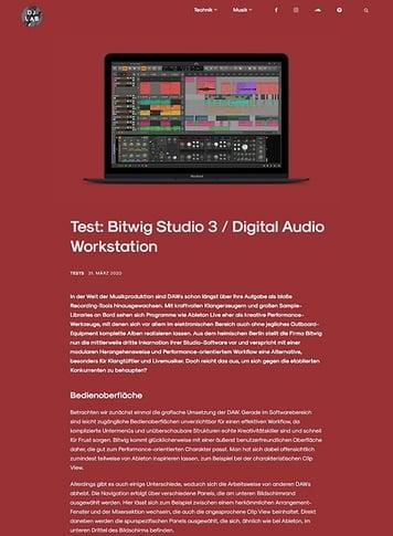 DJLAB Bitwig Studio 3