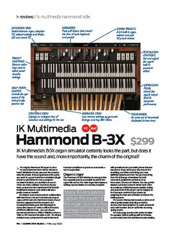 Computer Music IK Multimedia Hammond B-3X
