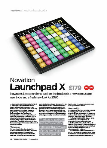 Computer Music Novation Launchpad X