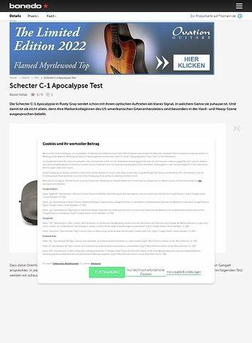 Bonedo.de Schecter C-1 Apocalypse