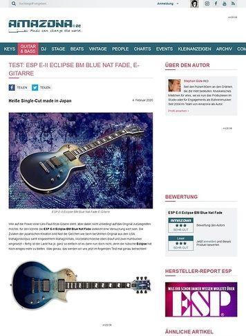 Amazona.de ESP E-II Eclipse BM Blue Nat Fade