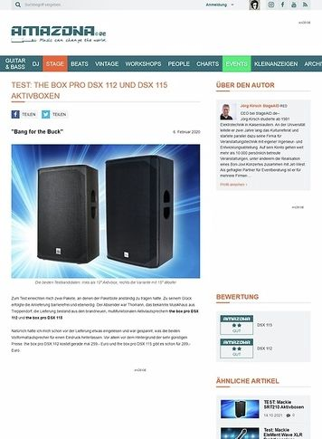 Amazona.de the box pro DSX 112 & DSX 115
