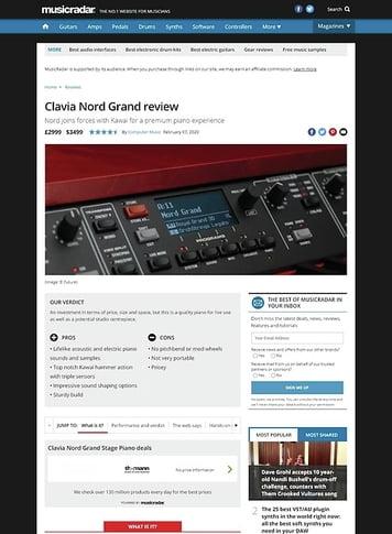 MusicRadar.com Clavia Nord Grand