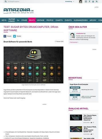 Amazona.de Sugar Bytes DrumComputer