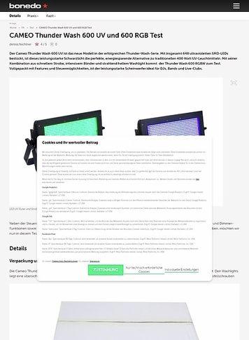 Bonedo.de CAMEO Thunder Wash 600 UV & 600 RGB