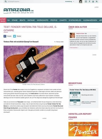 Amazona.de Fender Vintera 70s Tele Deluxe MN