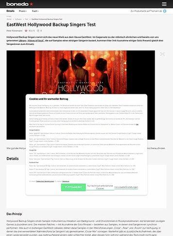 Bonedo.de EastWest Hollywood Backup Singers