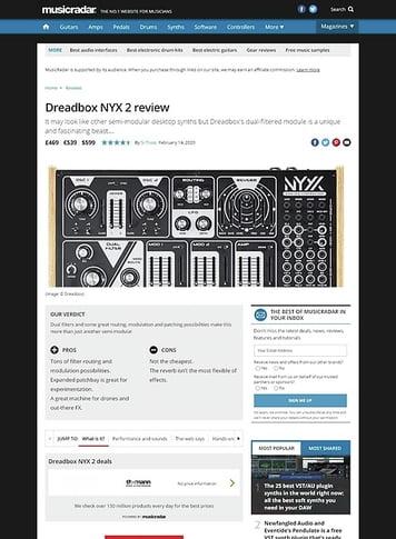 MusicRadar.com Dreadbox NYX 2