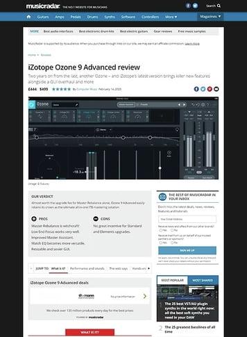 MusicRadar.com iZotope Ozone 9 Advanced