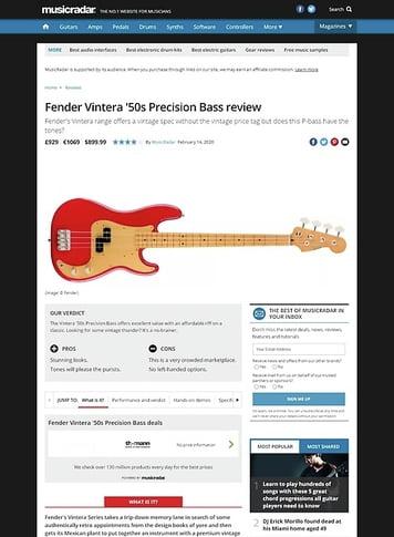 MusicRadar.com Fender Vintera 50s P-Bass