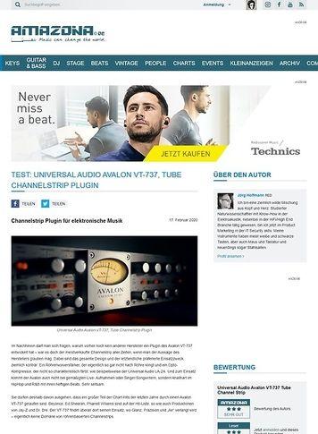 Amazona.de Universal Audio Avalon VT-737