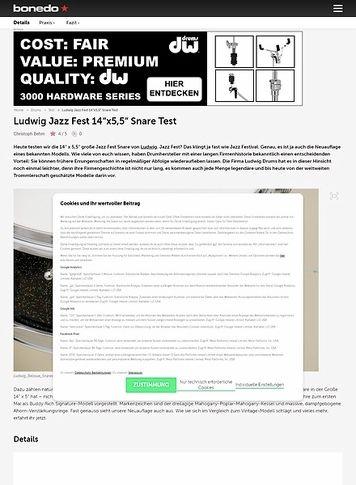 Bonedo.de Ludwig Jazz Fest 14 x 5,5