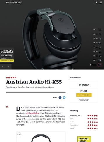 Kopfhoerer.de Austrian Audio Hi-X55