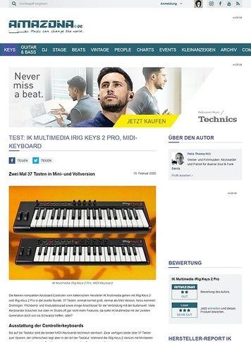 Amazona.de IK Multimedia iRig Keys 2 & 2 Pro