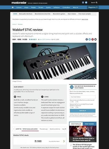 MusicRadar.com Waldorf STVC