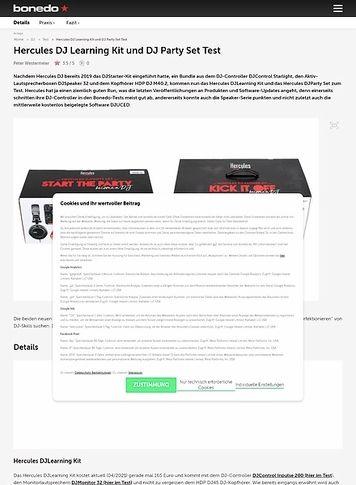 Bonedo.de Hercules DJ Learning Kit und DJ Party Set