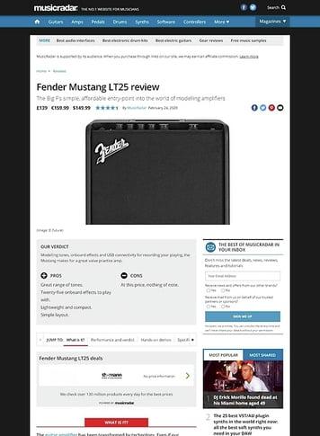 MusicRadar.com Fender Mustang LT25