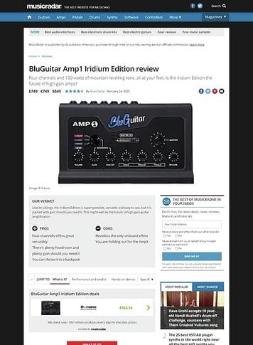 MusicRadar.com BluGuitar Amp1 Iridium Edition