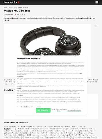 Bonedo.de Mackie MC-350