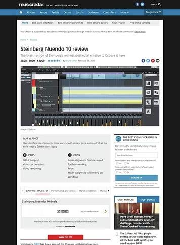 MusicRadar.com Steinberg Nuendo 10