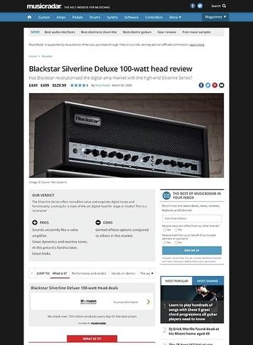 MusicRadar.com Blackstar Silverline Deluxe Head