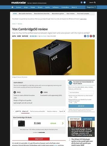 MusicRadar.com Vox Cambridge50
