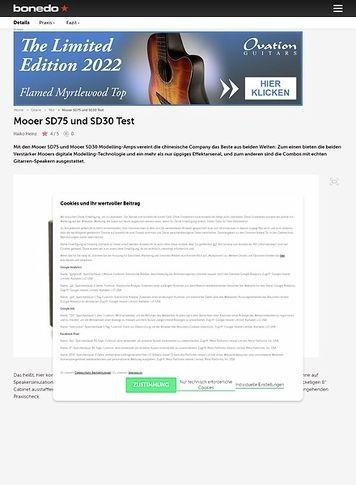 Bonedo.de Mooer SD75 und SD30