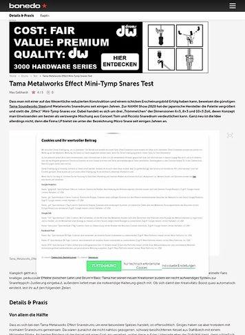 Bonedo.de Tama Metalworks Effect Snares