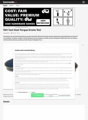 Bonedo.de RAV Vast Steel Tongue Drums