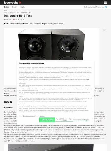Bonedo.de Kali Audio IN-8