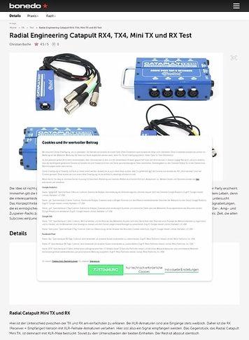Bonedo.de Radial Engineering Catapult RX4, TX4, Mini TX und RX