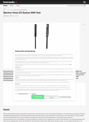 Bonedo.de Electro Voive EV Evolve 30M