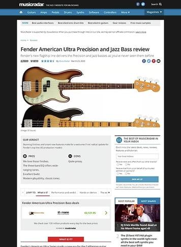 MusicRadar.com Fender American Ultra Precision and Jazz Bass