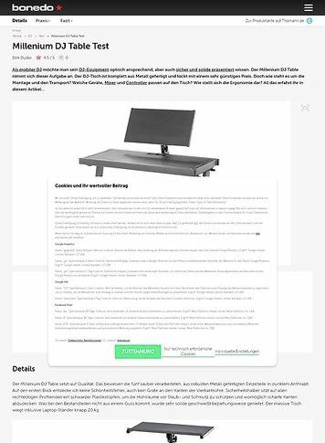 Bonedo.de Millenium DJ Table
