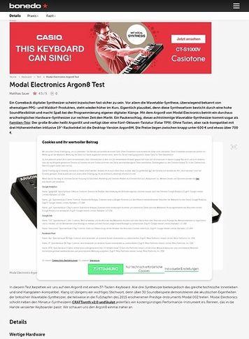 Bonedo.de Modal Electronics Argon8