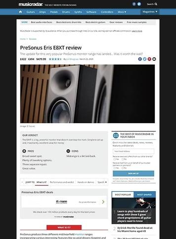 MusicRadar.com Presonus Eris E8 XT