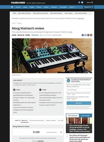 MusicRadar.com Moog Matriarch