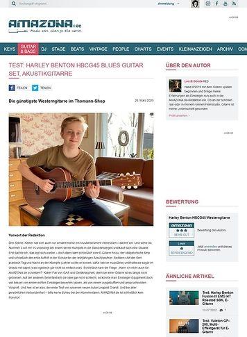 Amazona.de Harley Benton HBCG45 Blues Guitar Set